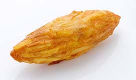 職人の手作りだからこそできる 芋の形をしたさつま揚げ。