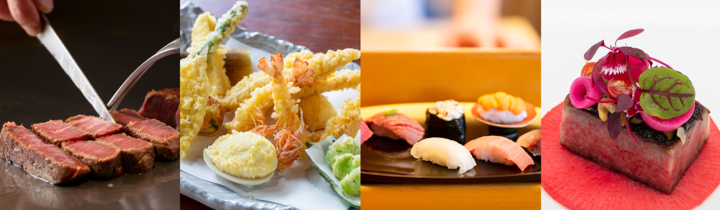Wide selection of restaurants featuring seasonal Japanese delicacies